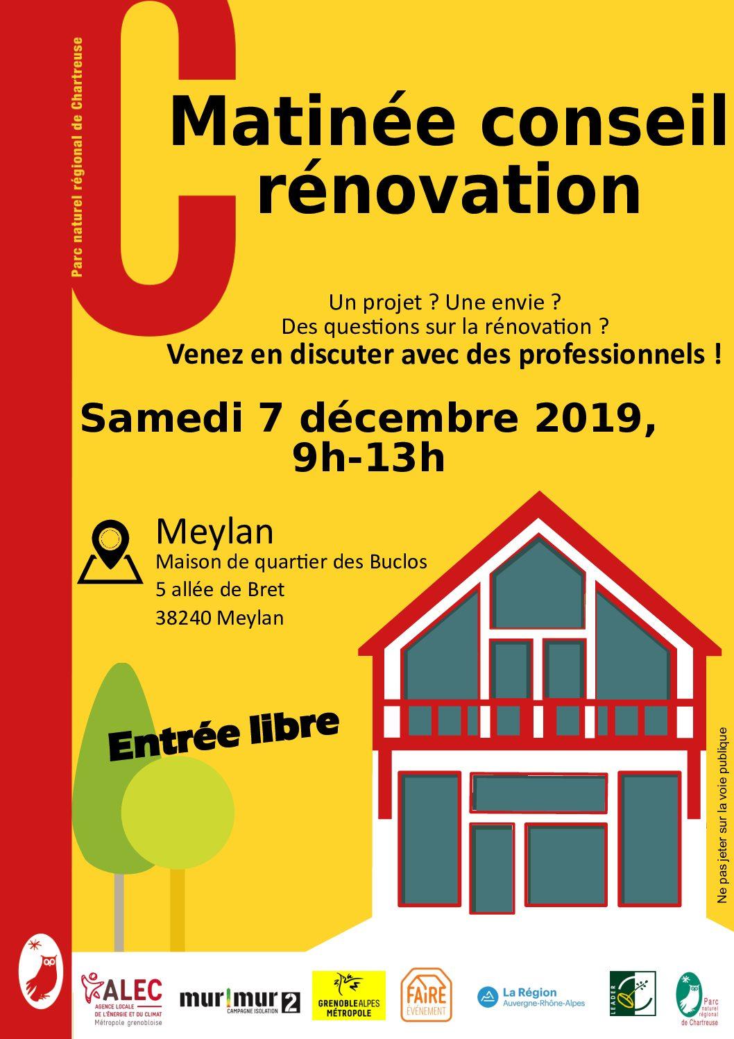 Matinée Conseil Rénovation à Meylan