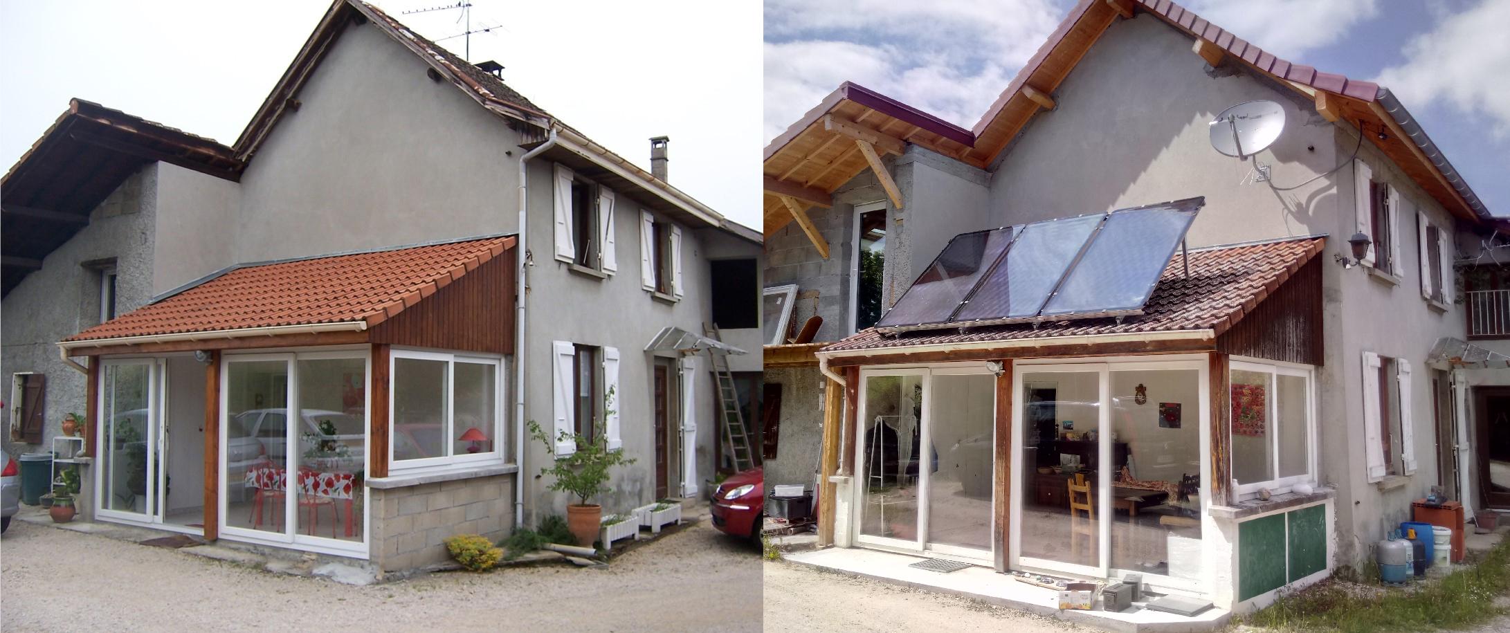 Visite d'une rénovation performante d'une maison en pisé à Dolomieu