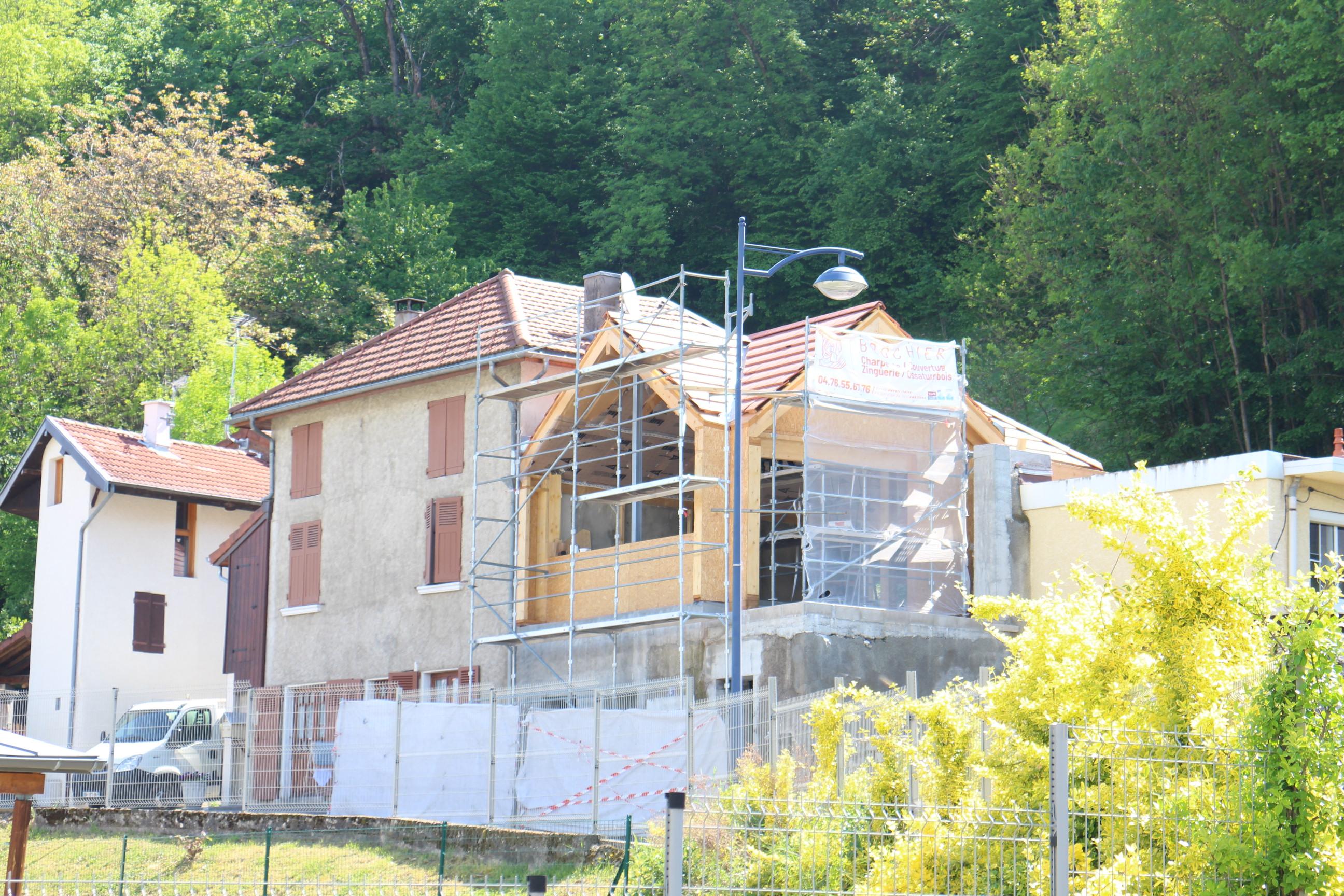 Visite de chantier de rénovation performante à Villard-Bonnot