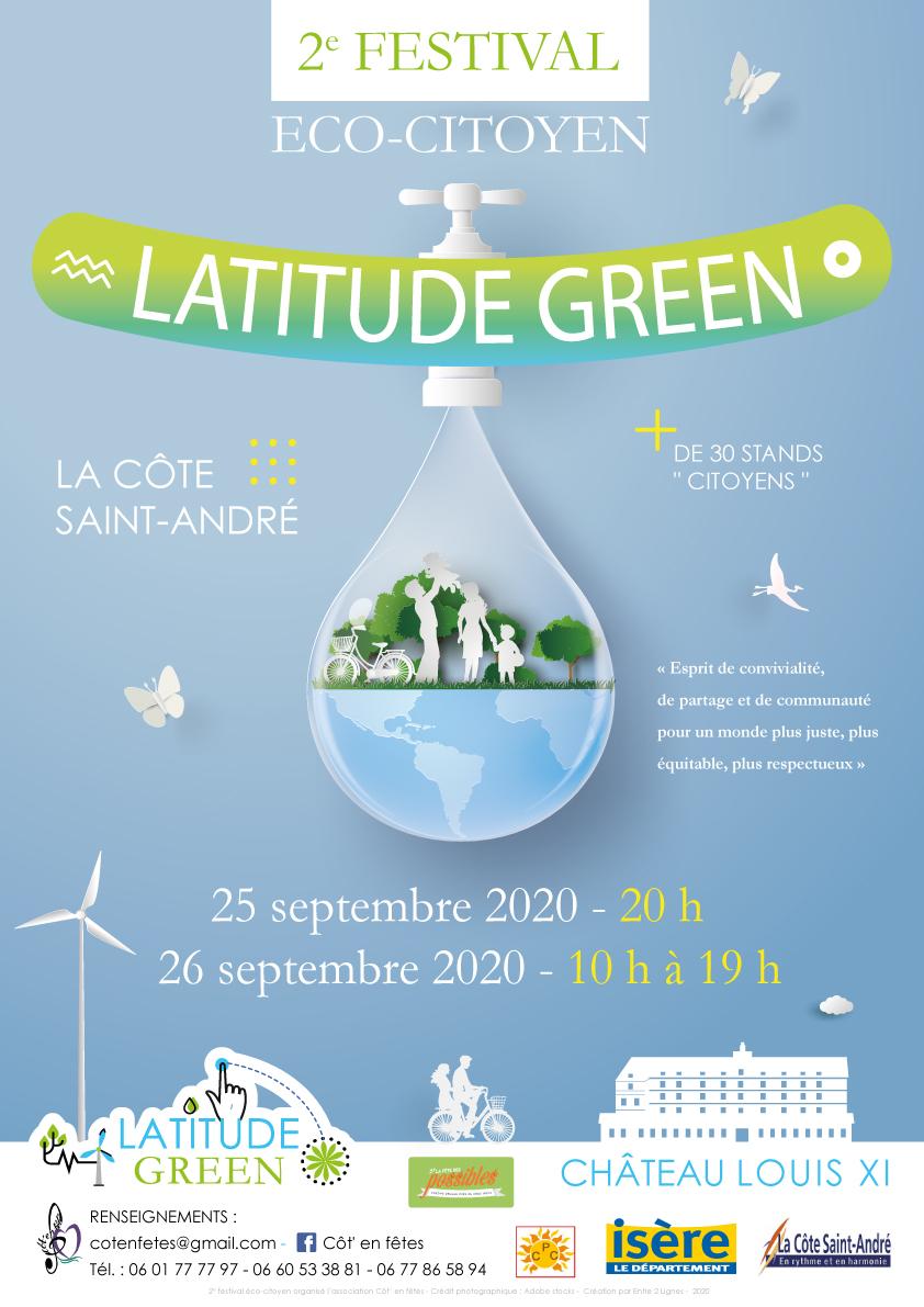 Festival LATITUDE GREEN à la Côte Saint-André