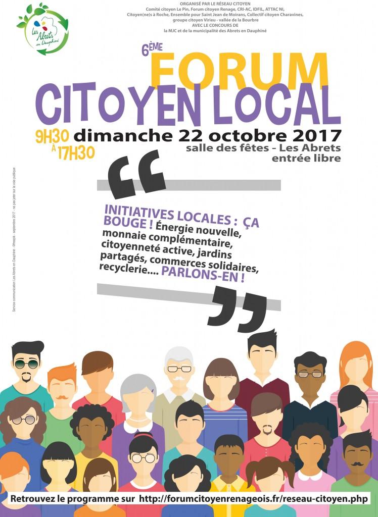 L'Espace Info Energie au 6ème Forum Citoyen Local aux Abrets