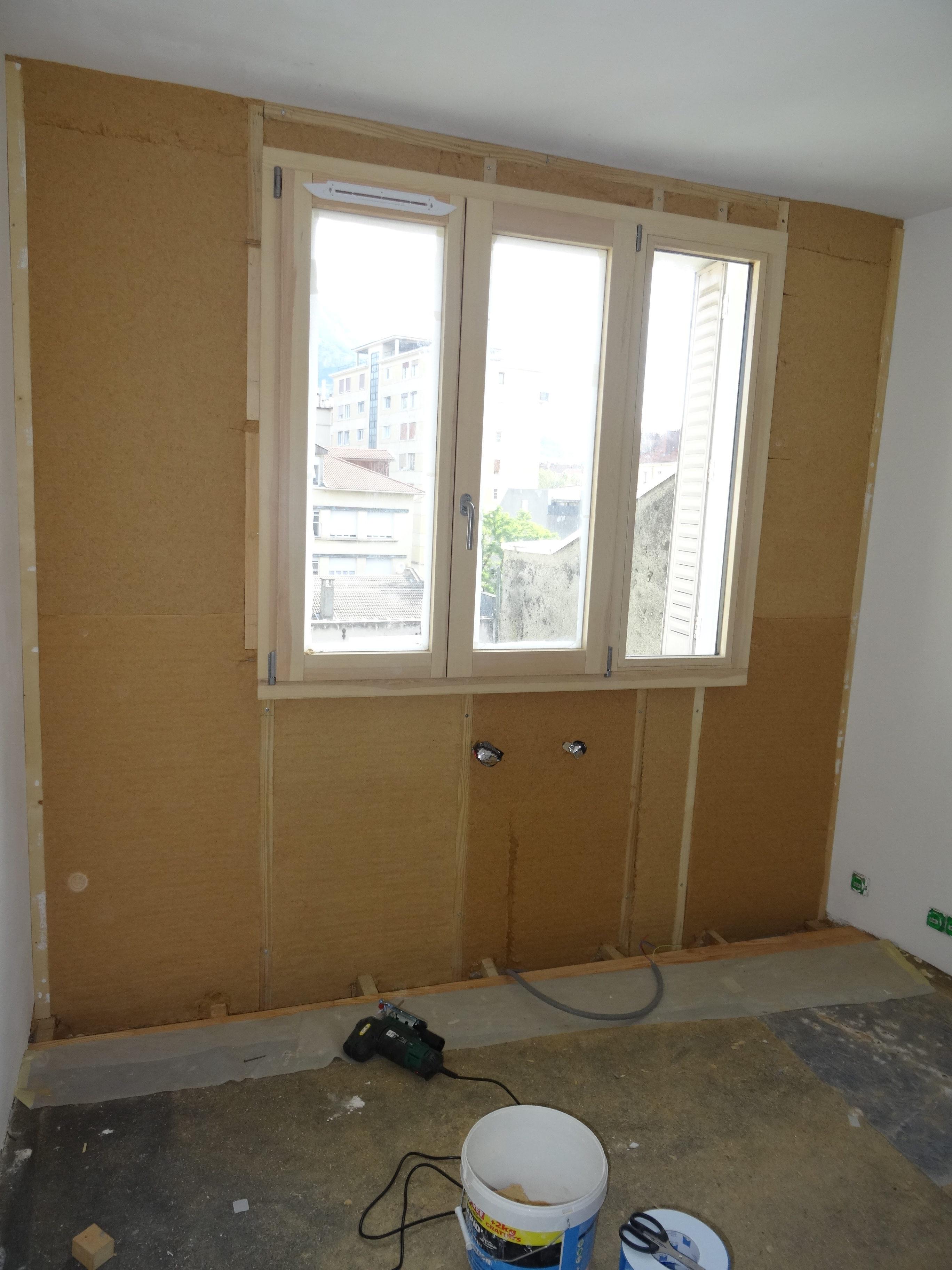 Visite  d'un appartement en cours d'auto-rénovation