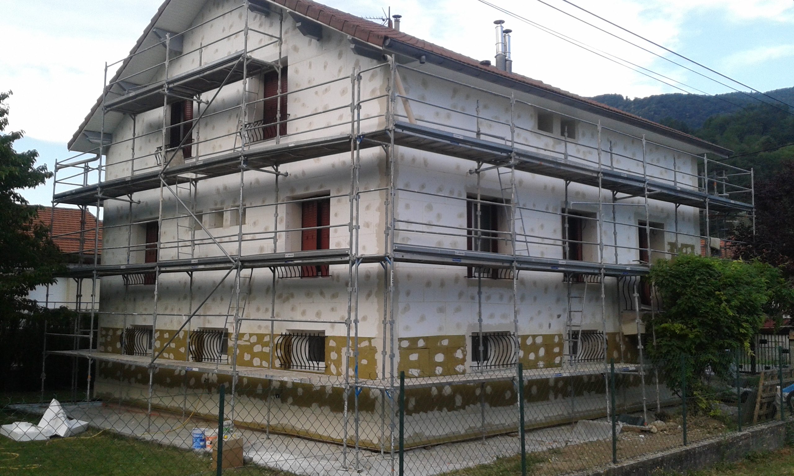 Visite d'une rénovation de maison à Saint-Martin-le-Vinoux
