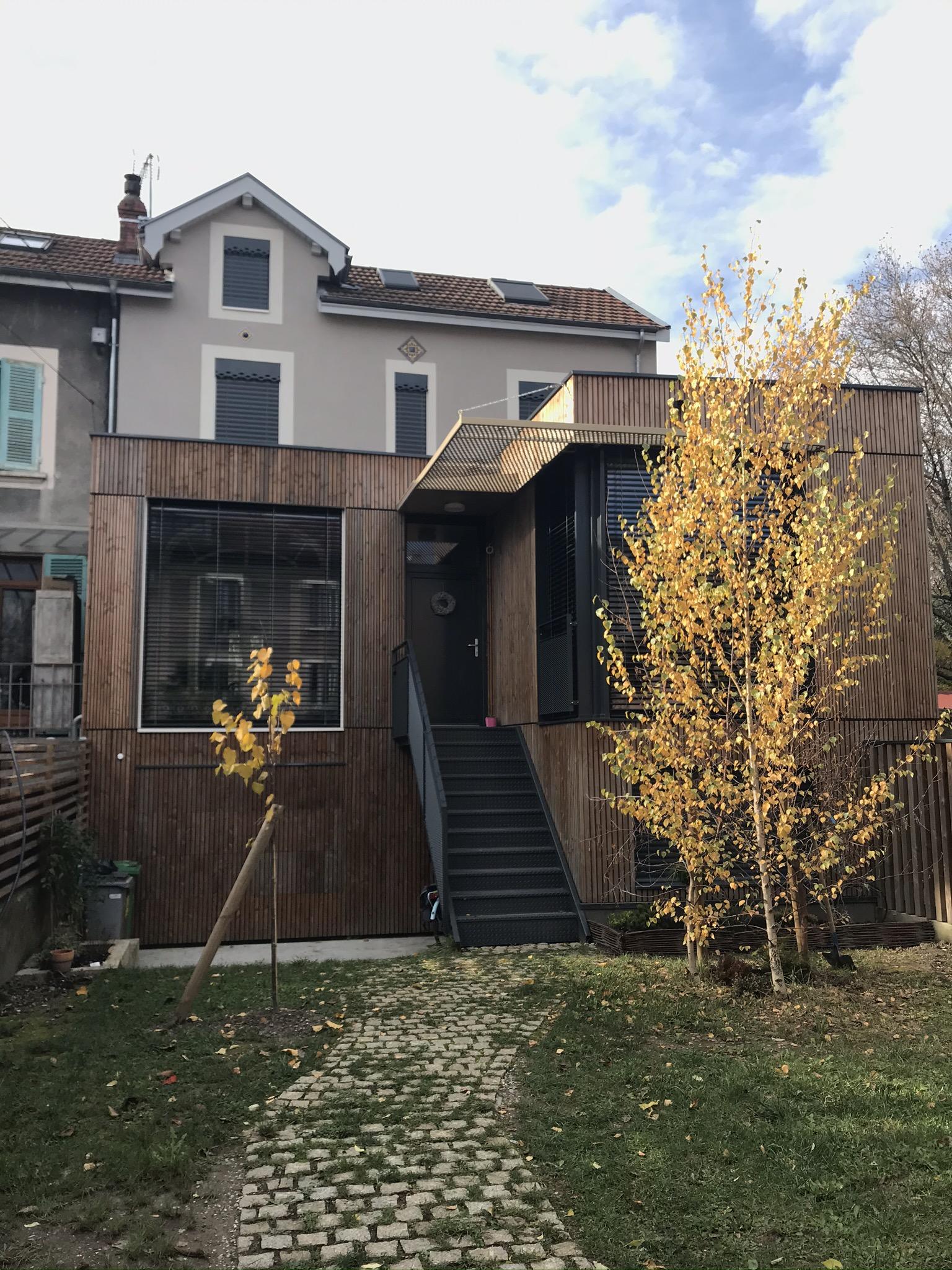 Visite d'une maison rénovée à Grenoble