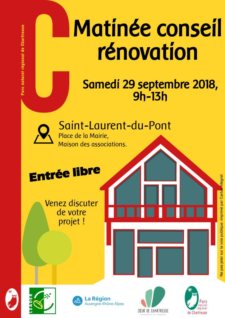 Matinée rénovation conseil à Saint-Laurent-du-Pont